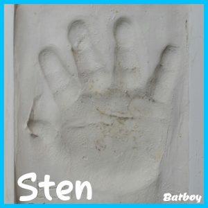 hand, handje, baby, batboy, 10 maand, gipsafdruk, afdruk, gips, te jong, blijvende herinnering