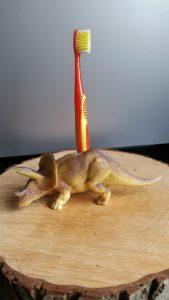 tandenborstelhouder, dinosaurus