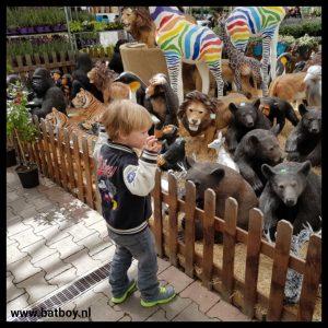 dieren, wild, tijgers, apen, beren, batboy, bang, jongens, tuincentrum