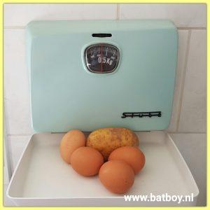 ingredienten, aardappel, ei, batboy, eierpannenkoek, aardappelpannenkoek