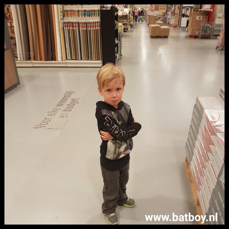 winkelen met kinderen, mamablog, batboy
