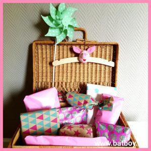 Cadeautjes, inpakken, batboy, kraamcadeau, cadeautjes, koffer, 9 maanden, baby, kraamschudden
