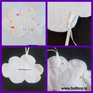vilt, wolkje, lavendel, miggen, zomer, batboy, anti-muggenzakje