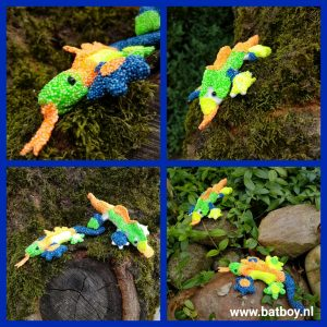 Hagedis, salamander, batboy, kinderen, knutselen, Foam Clay, klei