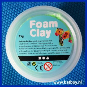 Foam Clay, batboy, knutselen, mamablog
