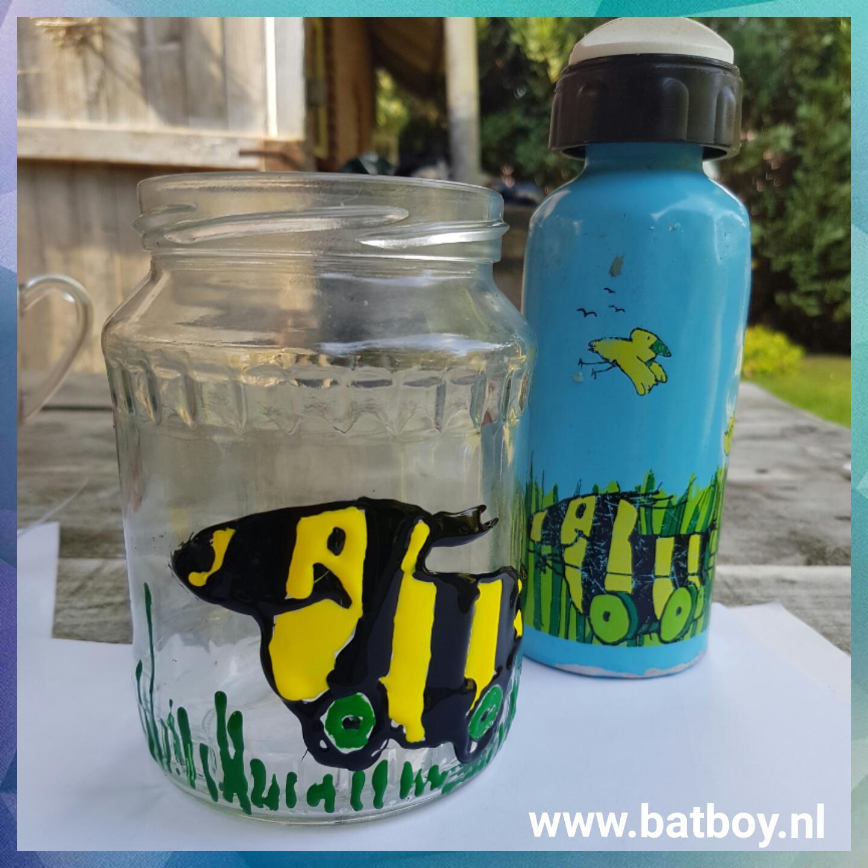 Voorkeur Glasverf van Action | Je eigen drinkglas verven | Batboy GT56