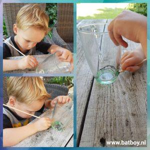 glas, drinkglas, batboy, verven, action, glasverf, glasverf action, glas versieren, tekenen