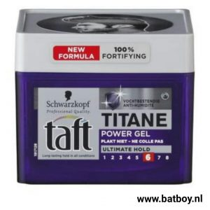 Taft, titane, taft titane, gel, taft gel, batboy, swarzkopf, jongens gel, mannen gel, kapsel, haar, haren, power gel, welke gel