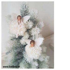 kerst, kerstboom, engel, kerstengel, pompom, diy, batboy
