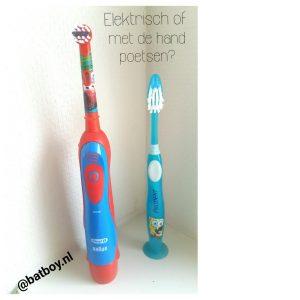 tandenpoetsen, tanden poetsen, batboy, elektrische tandenborstel, tandenborstel, zelf doen, elektrisch poetsen is leuk