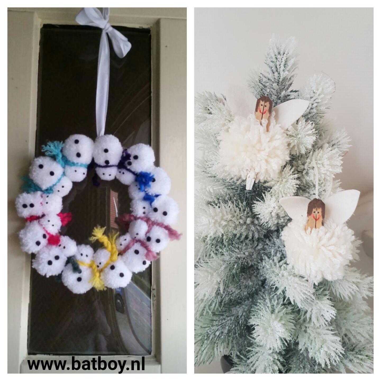 kerst, diy, kerstengel, kerstkrans, batboy, sneeuwpop