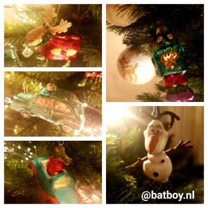 kerstboom, kerstversiering, kerstballen, batboy