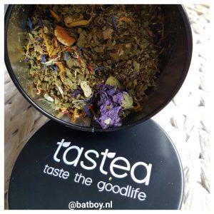 tastea thee voor energy, batboy, tastea energy boost, energie, thee waar je energie van krijgt, theeleut