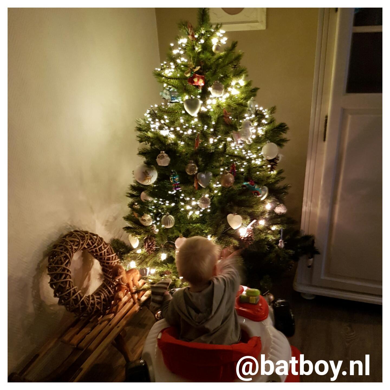 niet aan de kerstboom komen