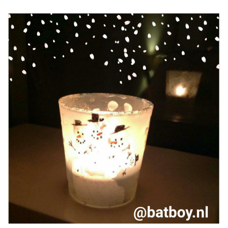 kerst, kijkdoos, kerstversiering, batboy, waxinelichtje, kaarsje, kinderen, knutselen
