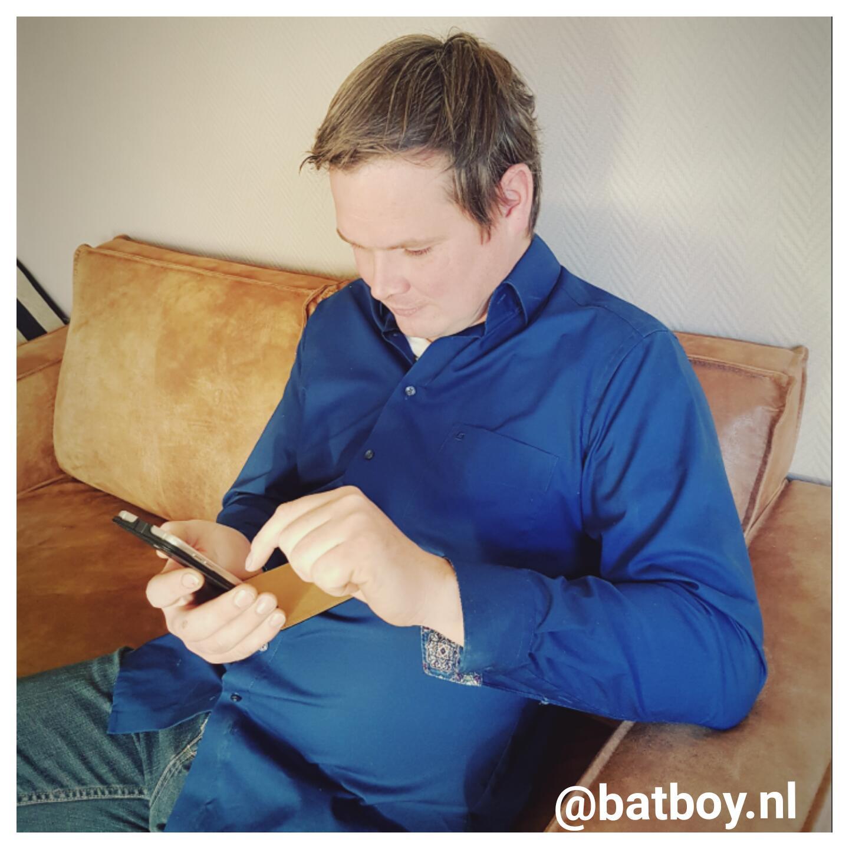 strijkvrij overhemd, batboy