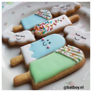 koekjes van kris, koekjes, batboy, wolkjes, ijsjes