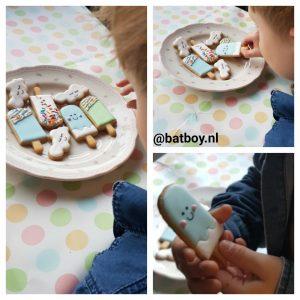 koekjes van kris, batboy, koekjes, ijsje, schattige