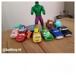 auto cars, hulk, batboy, kleuren, kleuren leren, peuter, kleurenblind