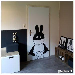 pimp je deur, deur, foto, poster, batboy, konijn, deurposter, deursticker, sticker, kamer