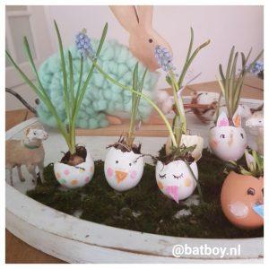 paasbakje, ei, eieren, bloembolletjes, eierschalen, diy, paasbakje