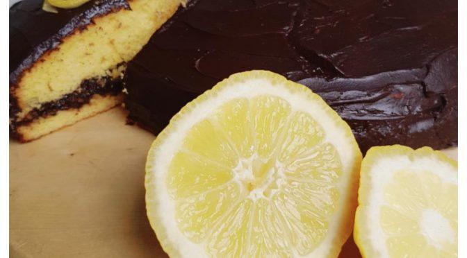 Citroentaart met chocolade