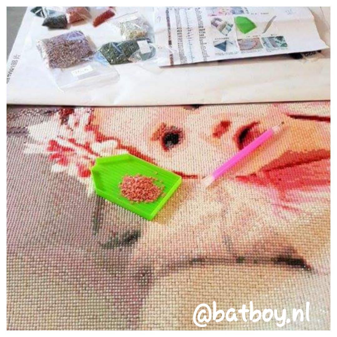 batboy, leuke bezigheid, monnikenwerk, diamond painting, diamant schilderen