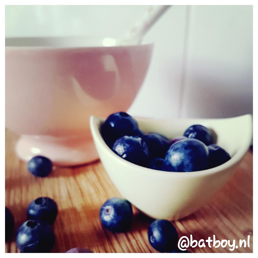 blauwe bessen, griekse yoghurt, batboy, gezond