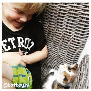 een huisdier, batboy, beste vriendjes met je huisdier, een huisdier nemen met kleine kinderen, een huisdier voor de kinderen
