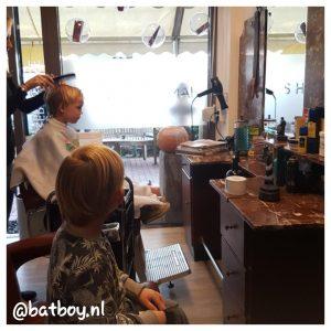 hans hairstudio, met jongens naar de kapper, batboy