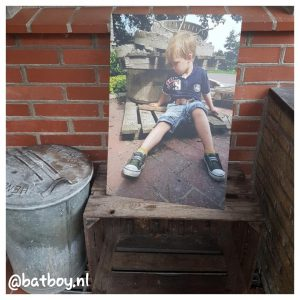 mamablog, batboy, foto op aluminium
