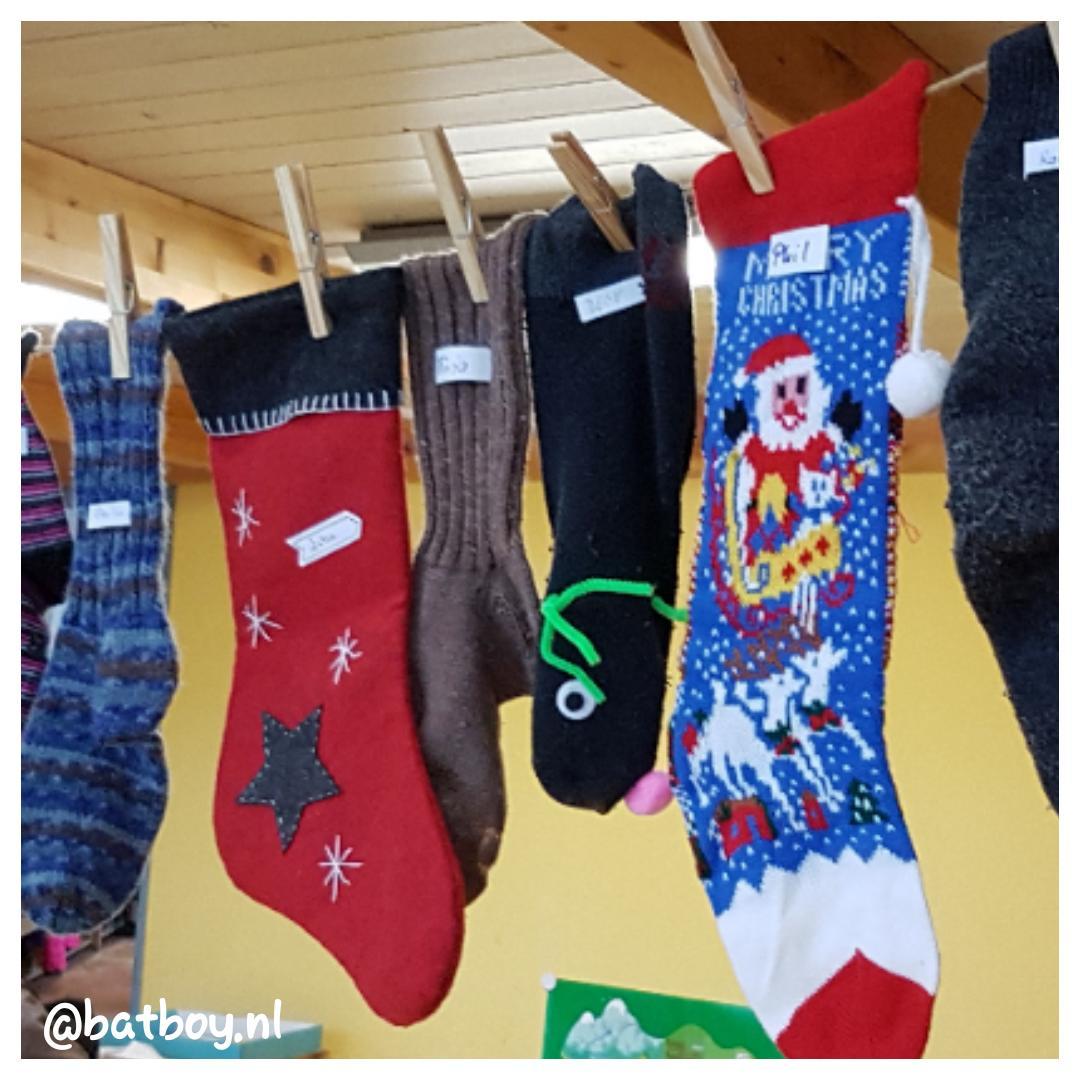 een kerstsok maken, batboy, mamablog