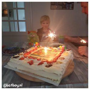 mamablog, batboy, popples verjaardagstaart