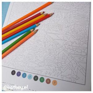 denksport kleuren voor volwassenen, mamablog, batboy