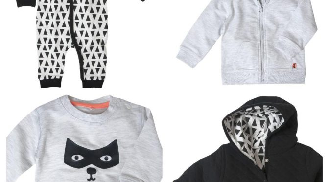 Monochrome outfits voor stoere baby boys