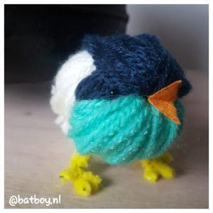 mamablog, batboy, diy vogeltje, vogeltje van wol
