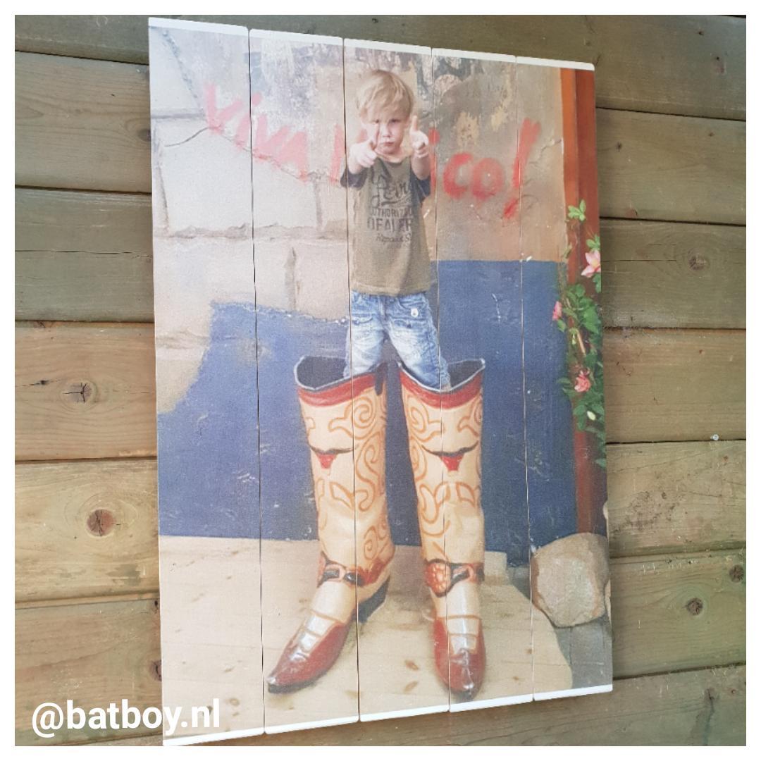 batboy, mamablog, foto op hout