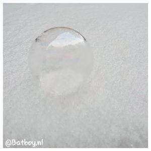 sneeuw, bellenblaas