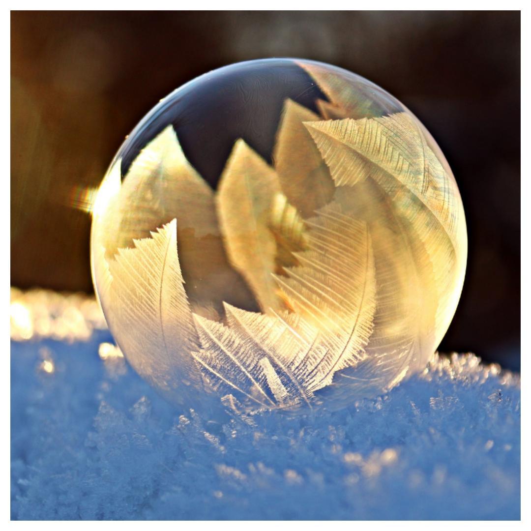 sneeuw, ijsbellen blazen