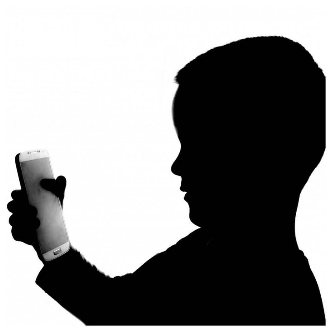 regels, smartphone, kind