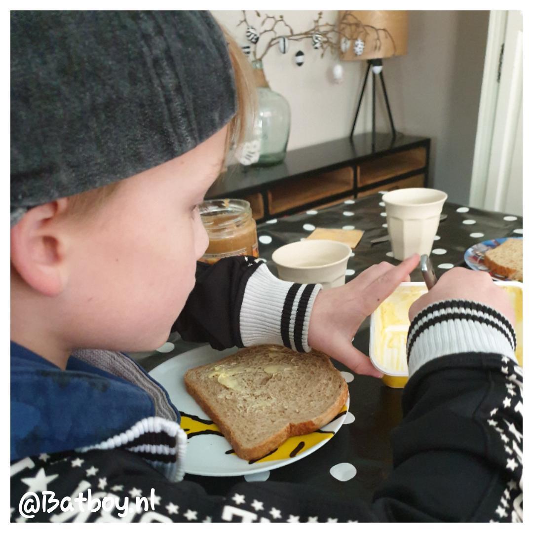 brood smeren, kind, boterham