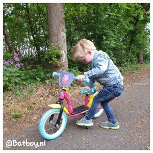 loopfiets, leren fietsen, peppa big