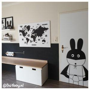 decoratie, wereldkaarten, zwart wit wereldkaart