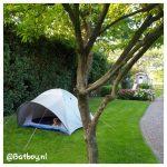 kampeerplek, kamperen, tuin