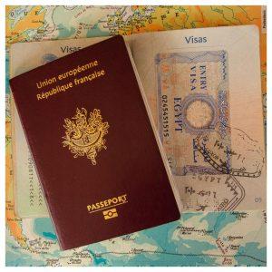 stempel, paspoort, visum