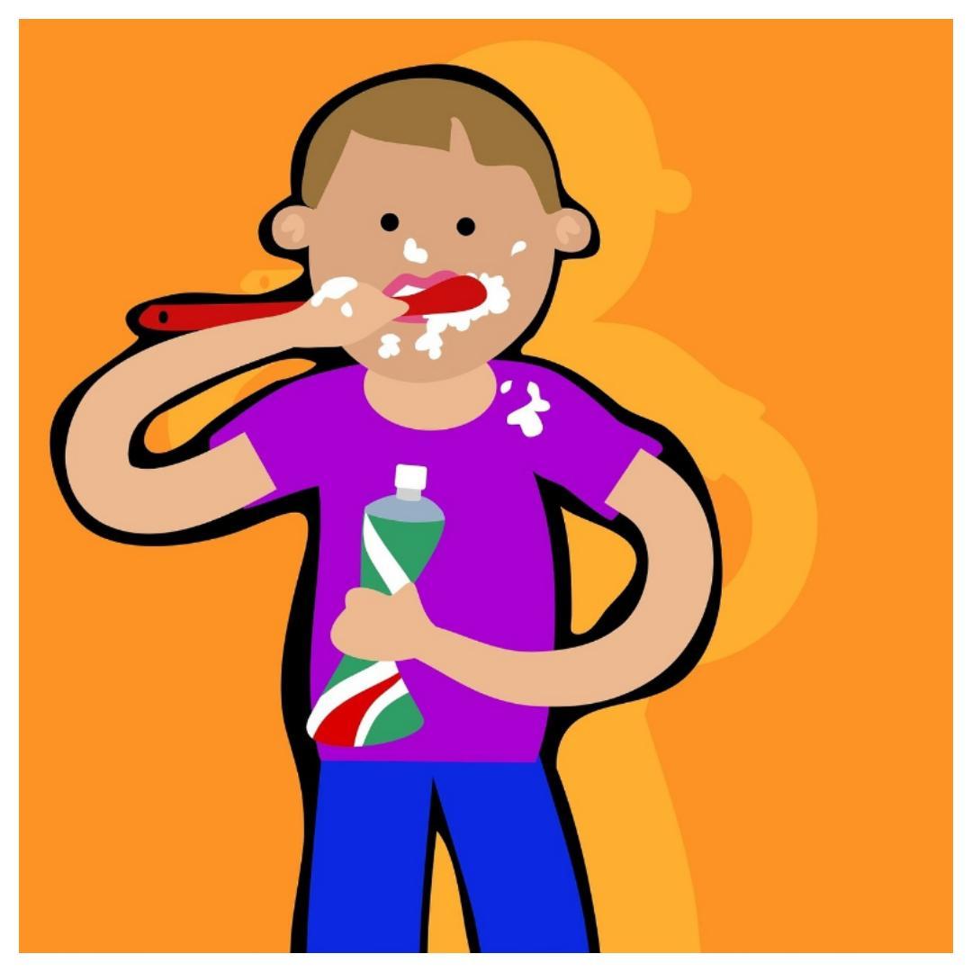 tanden poetsen, tandenpoets drama