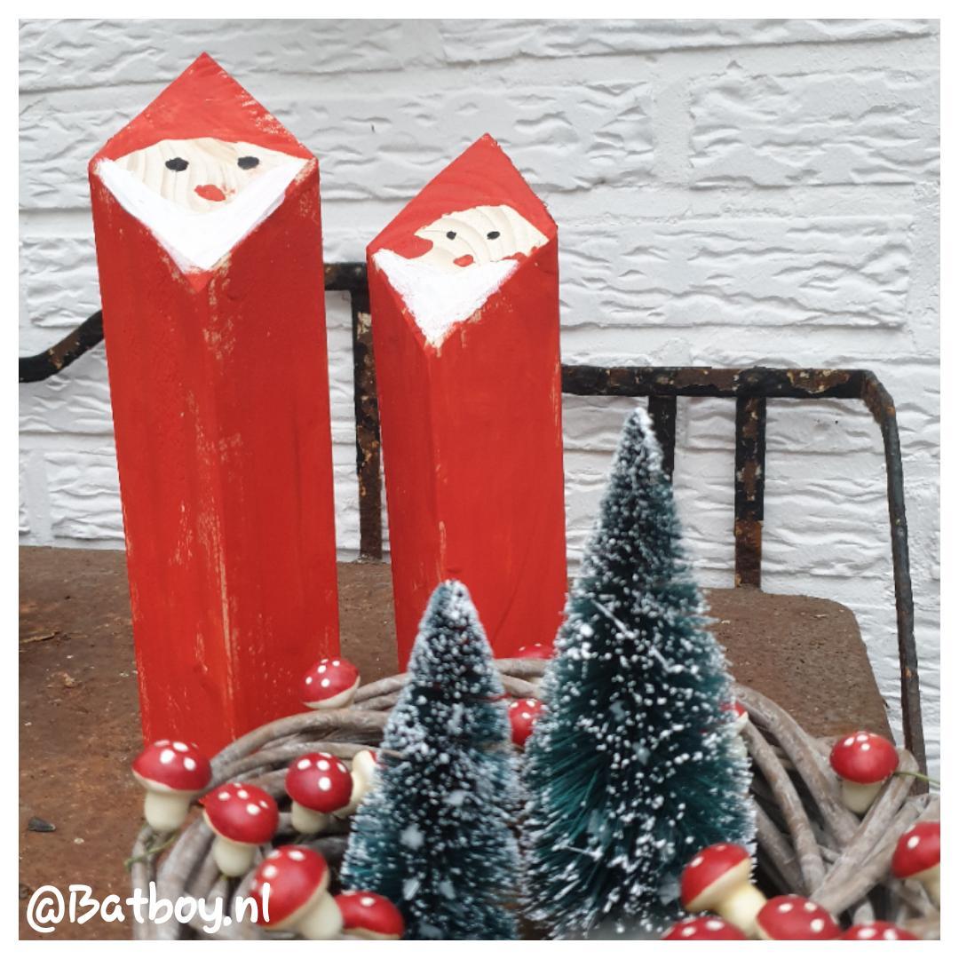 kerstmannen, kerstmannen van hout