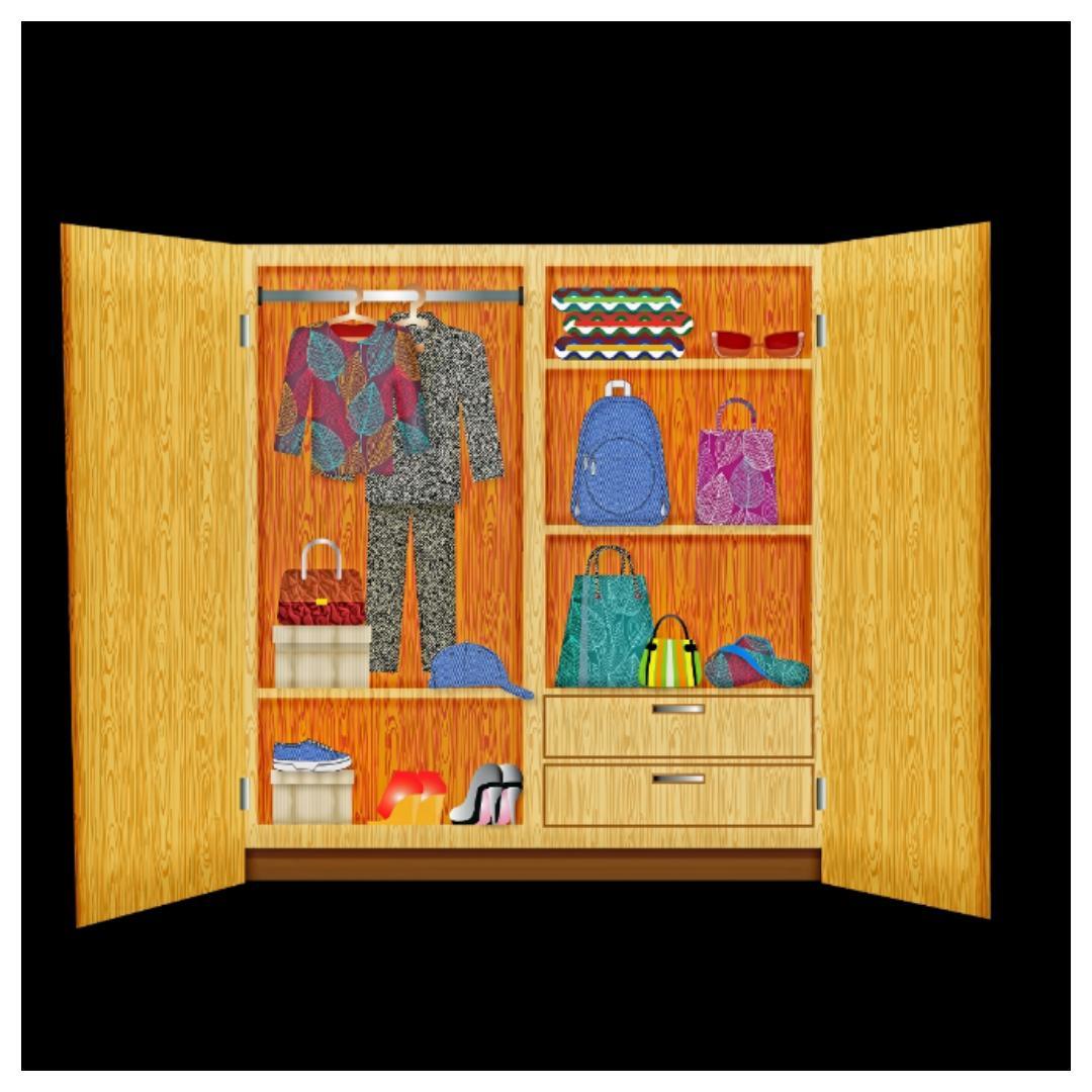 kledingkast, kast, kledingkast op maat, steigerhout