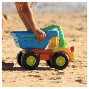 speelgoed, strand