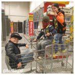 winkelen, gezin, wachtrij